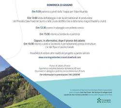 Slow Food Travel MONTAGNE BIELLESI domenica 23 giugno programma