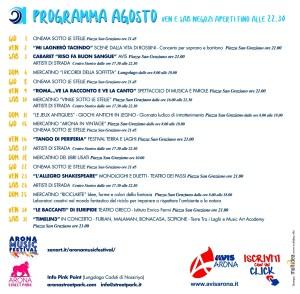 Eventi Arona Agosto 2019