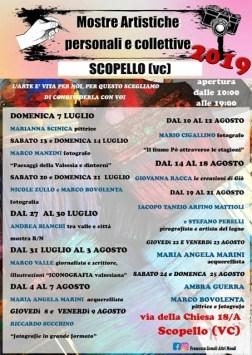 Mostre artistiche a Scopello luglio 2019 locandina