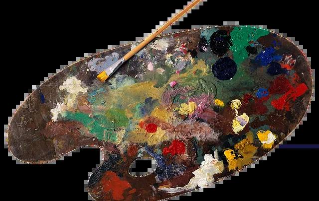 Tavolozza pittore credit pixabay