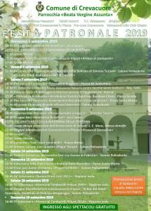 Festa Patronale Crevacuore locandina 2019