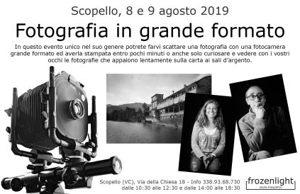 Fotografie in grande formato a Scopello
