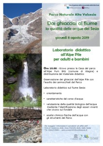 Laboratorio didattico sulle acque del Sesia Alagna agosto 2019