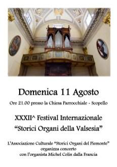 Locandina concerto d'organo Scopello
