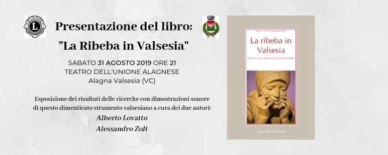 Locandina present. libro sulla Ribeba in Valsesia