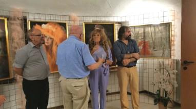 Momenti della mostra con Lella Beretta
