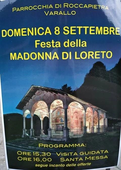 Festa Madonna di Loreto 8 settembre Roccapietra