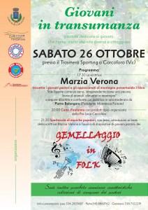Giovani in transumanza. locandina evento Carcoforo