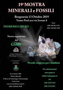 Mostra minerali fossili settembre 2019 locandina
