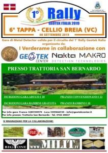 Locandina Rally Geoteck San Bernardo (VC)