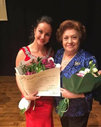 Julia Muzychenko e Fiorenza Cossotto