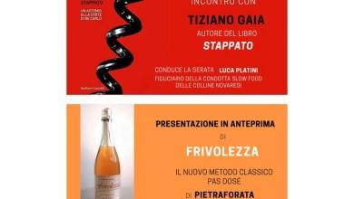 """Photo of Ghemme: presentazione del libro """"Stappato"""" di Tiziano Gaia"""