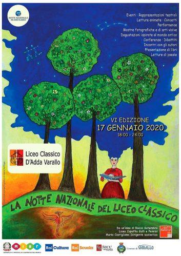 Notte al Liceo Varallo locandina