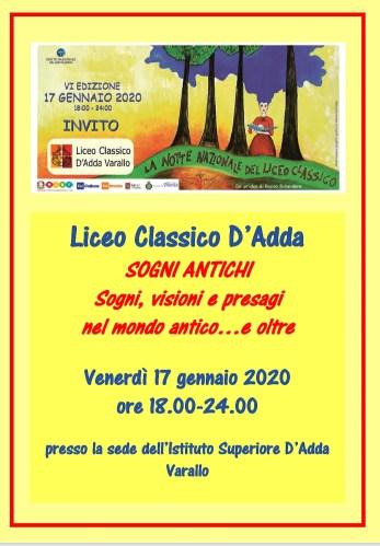 Sogni Antichi Liceo d'Adda Varallo
