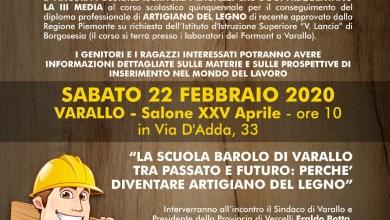 """Photo of Varallo: incontro pubblico per presentare il """"Corso artigiano del legno"""""""
