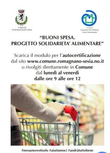 Buoni Spesa Comune di Romagnano Sesia emergenza Coronavirus