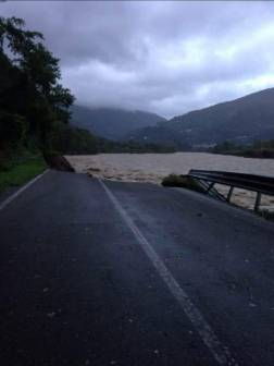 Alluvione 2020 strada per Locarno. Ph Enzo Silvestri