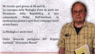 Photo of In ricordo di Giulio Quazzola
