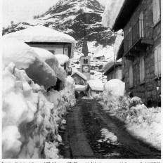 Rimasco-Ferrate-Val d'Egua (Valsesia) durante la BIG SNOW l'inverno di Gelo e Neve del 1971/1972