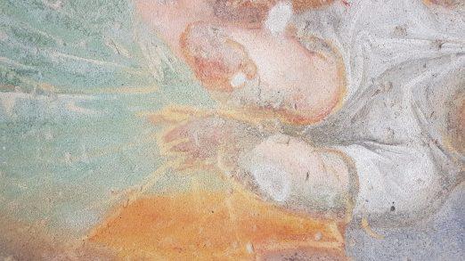 San Cristoforo partic braccio e gamba Gesù