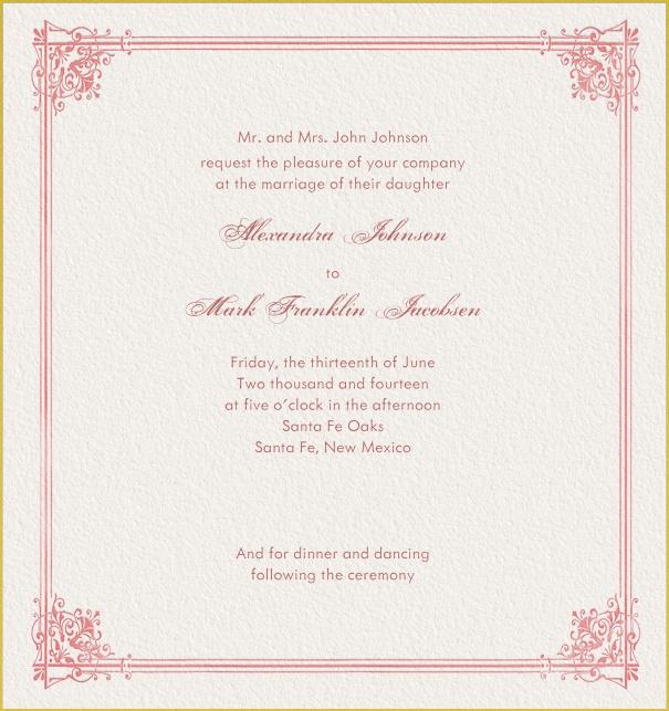 Baroness Online Wedding Invitation Cards