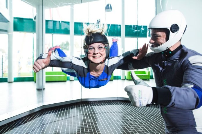 #WINDOBONA, Freizeit, Indoor #Skydiving, Panorama Bild, Windtunnel, Tourismus / Urlaub, #Berlin