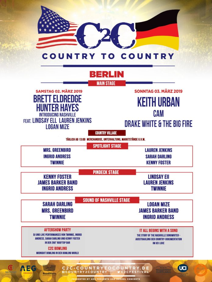 C2C,Country To Country ,Berlin,Festival,Musik,Kultur,#EventNews,#VisitBerlin