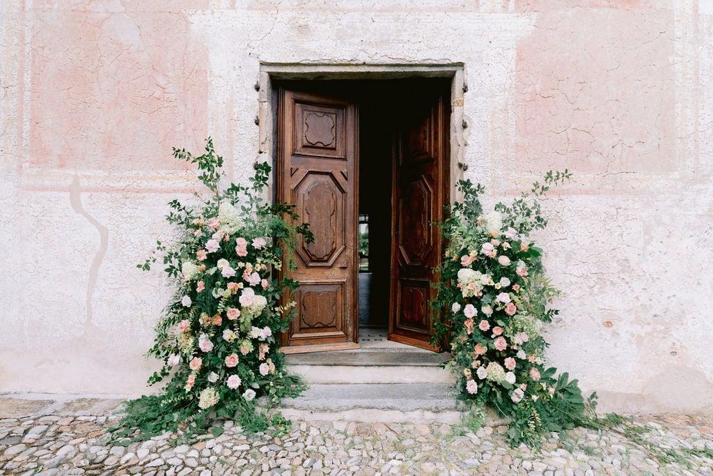 Entrance Santa Maria del Sasso Church, Ticino