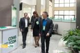 Mauro Borges, presidente da CEMIG (à esq), com Eliana Castello Branco, diretora executiva e Nelson Fujimoto, gestor de Inovação e Novos Negócios da CEMIGTelecom.