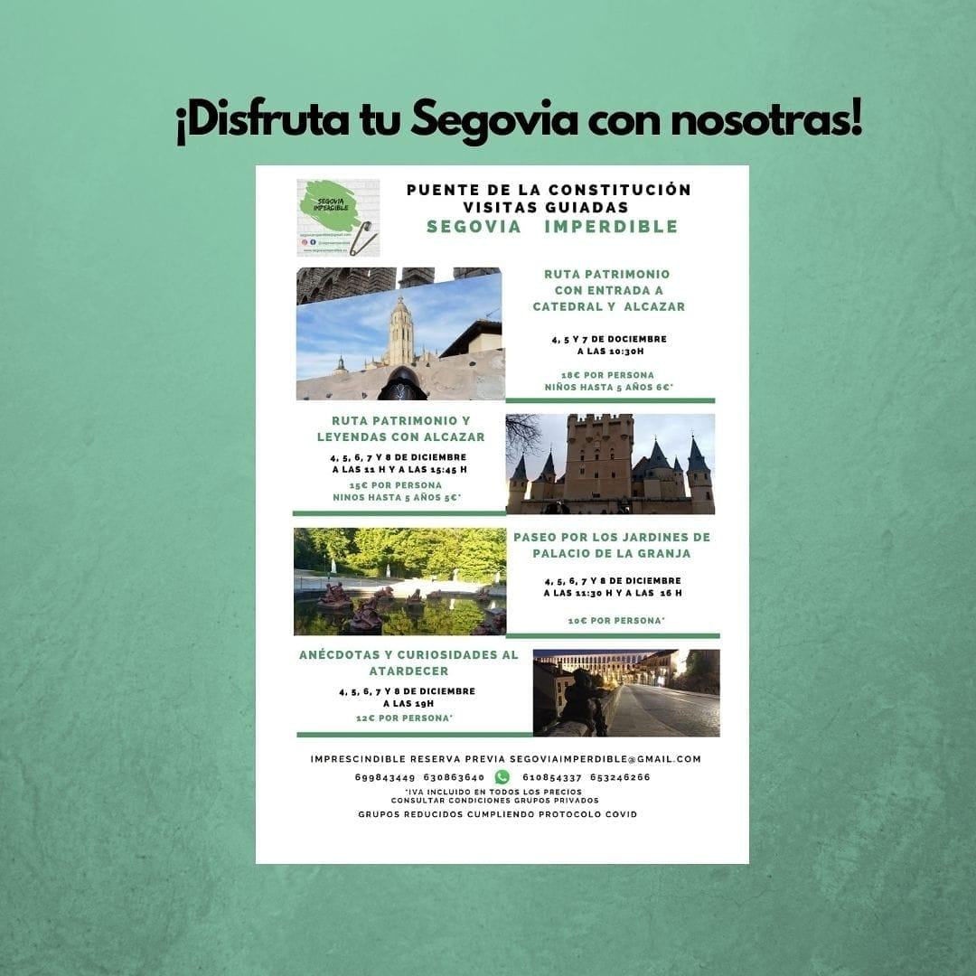 Visitas guiadas durante el Puente de la Constitución, con Segovia Imperdible