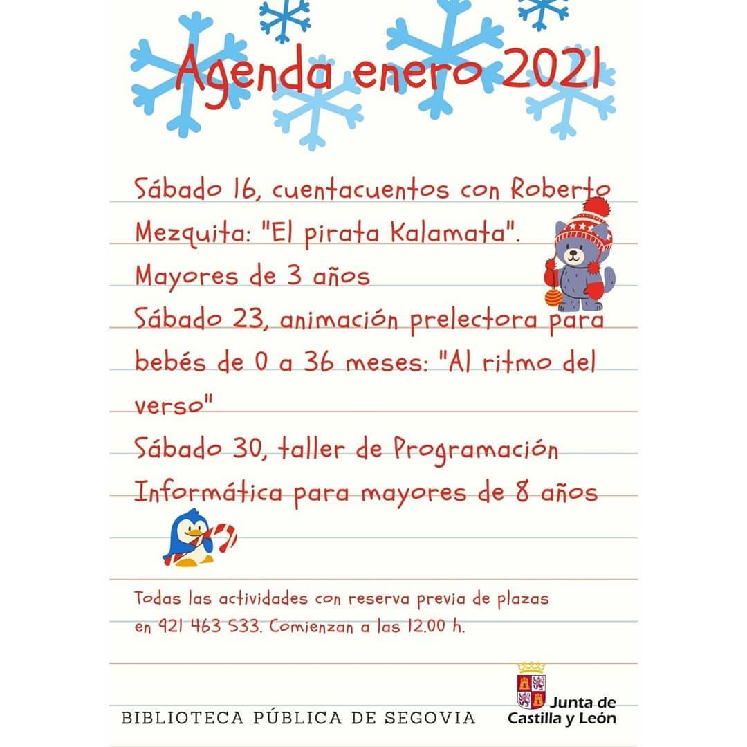 Actividades infantiles en la Biblioteca de Segovia - Enero 2021