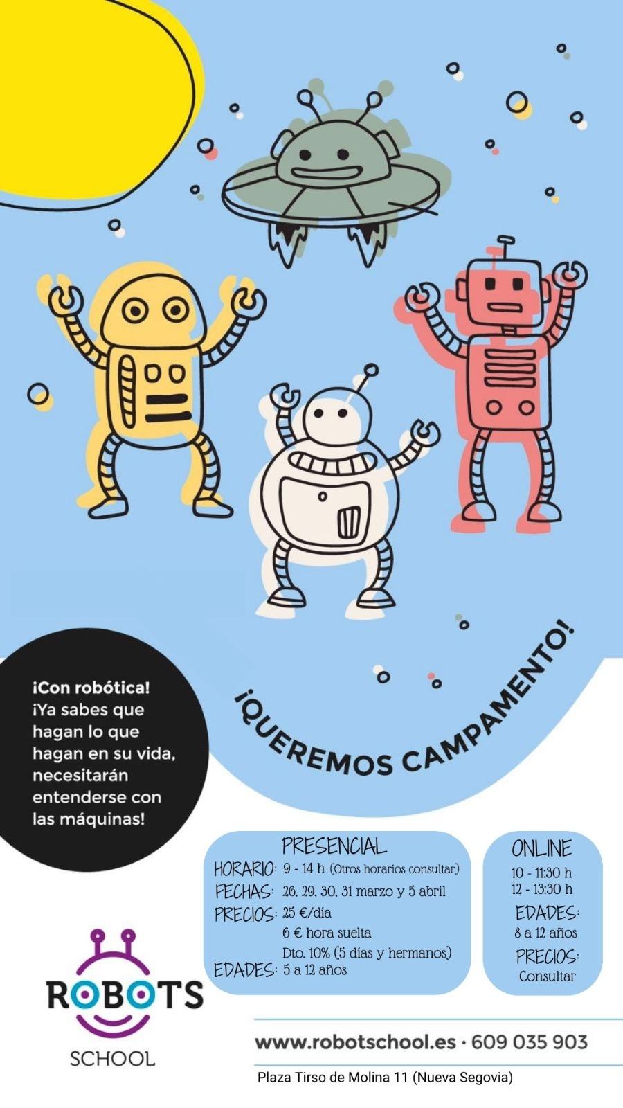 Campamento Semana Santa Robots School