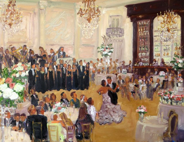 Image result for wedding reception painting