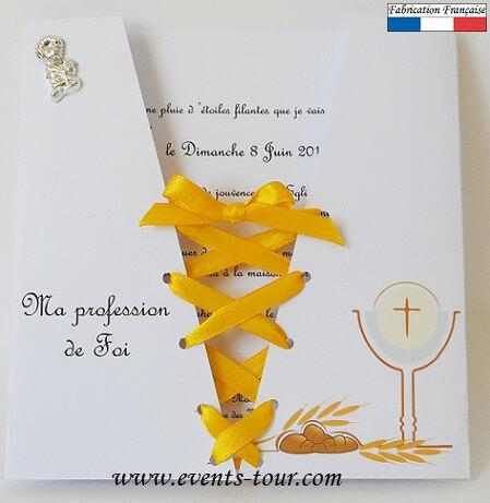 faire part corsage communion x1 ref 10352
