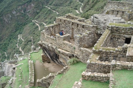 Members at the top of Machu Picchu