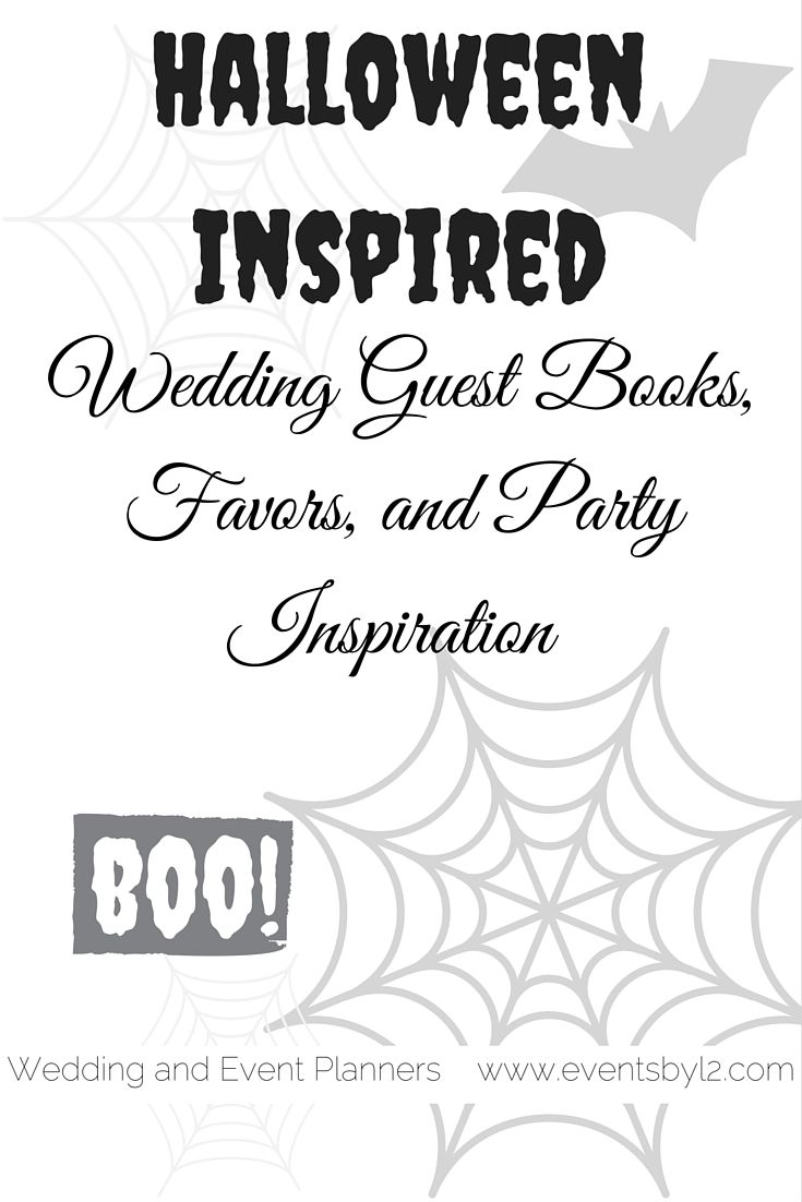 Halloween Inspired Wedding Guest Books, Favors, and Party Inspiration