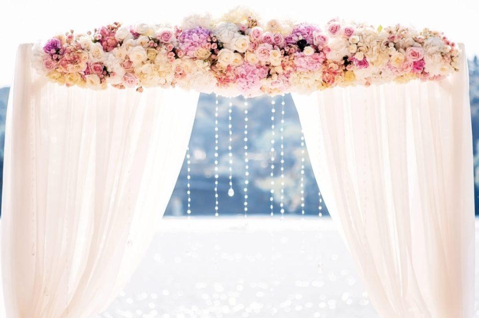 Beautiful Wedding Arch Ceremony Flowers
