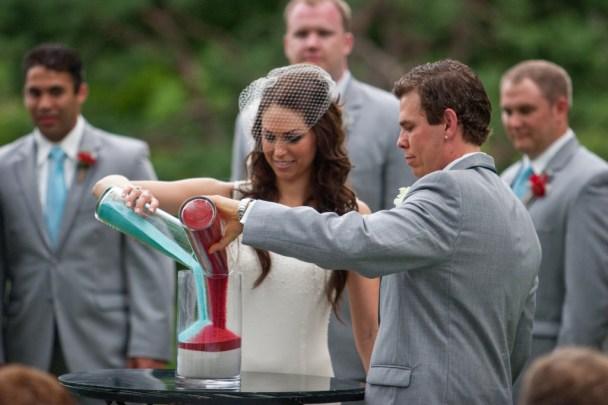 wedding sand ceremony outdoor