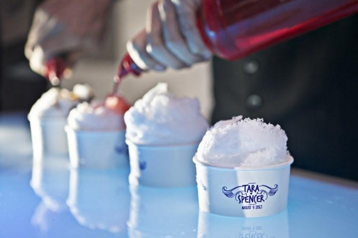custom wedding snow cones sno cone