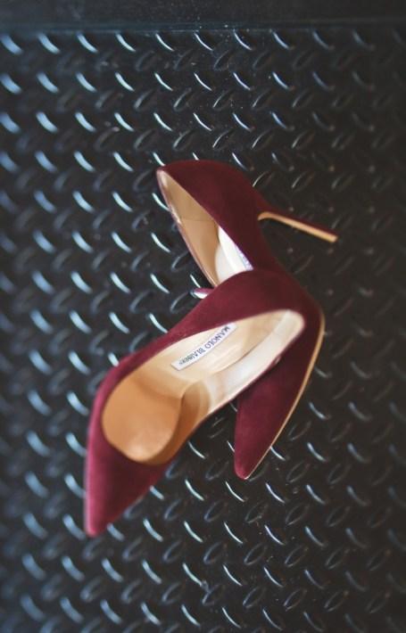 Oxblood burgundy Manolo shoes