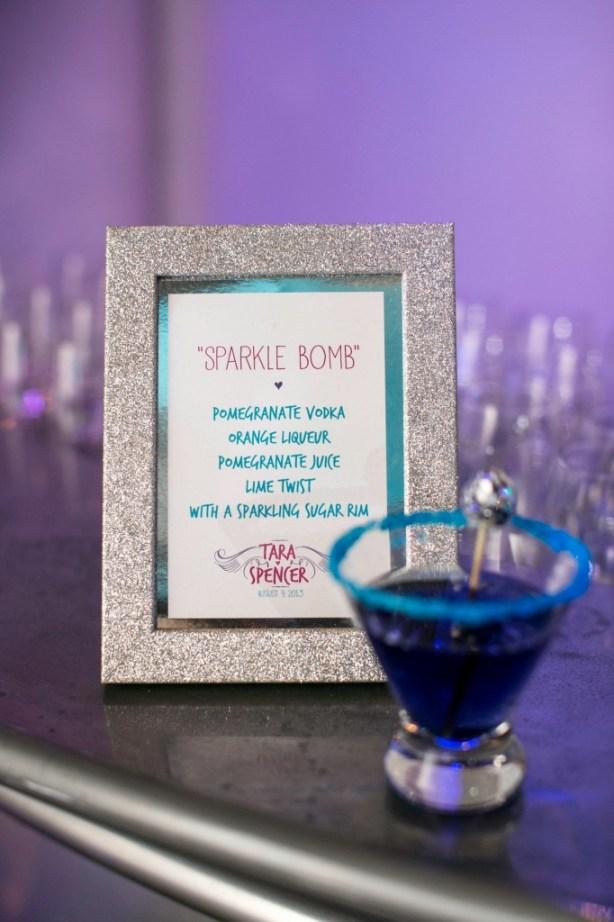 sparkle bomb specialty drink purple blue glitter sugar