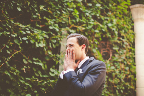 Surprise groom at Twin Oaks Presbyterian church St. Louis | Events Luxe Weddings