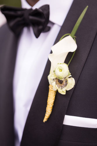 Boutonniere by the Crimson Petal St. Louis | Events Luxe Weddings