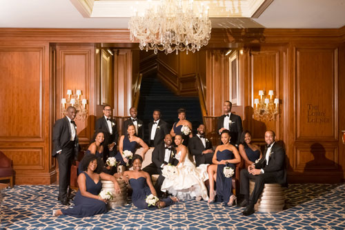 Bridal Party at The Ritz Carlton St. Louis | Events Luxe Weddings