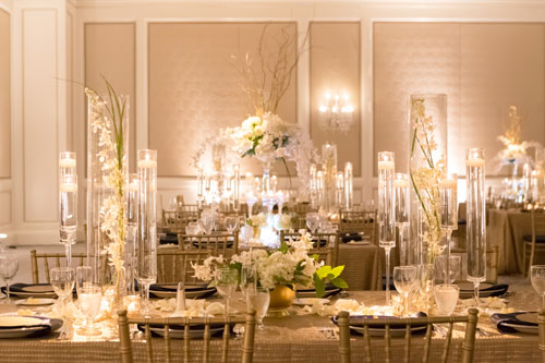 Table Settings at The Ritz Carlton Wedding | Events Luxe Weddings