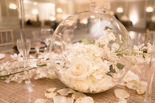 Table Floral Arrangements at the Ritz Carlton | Events Luxe Weddings
