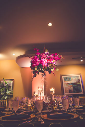 Magenta table setting at the Chase Park Plaza | Events Luxe Weddings