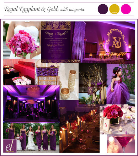 Eggplant Gold Magenta Wedding St. Louis | Events Luxe Weddings
