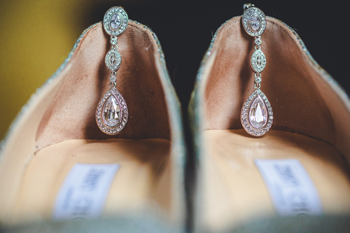 Wedding shoes at winter white wedding in st. louis | Events Luxe weddings