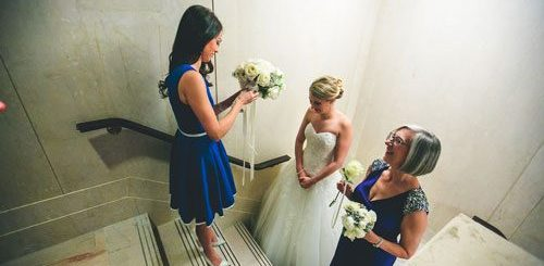 beautiful bride at winter white wedding in st. louis | Events Luxe weddings